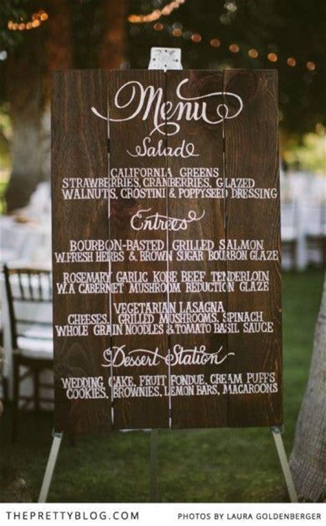 backyard wedding menu menu idea for outdoor wedding wedding pinterest