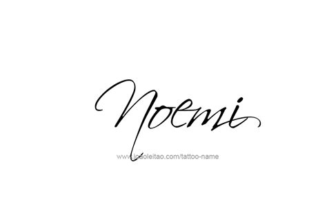 noemi name tattoo designs