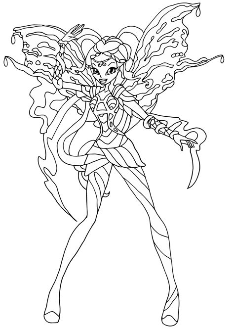 Winx Bloomix Coloring Pages winx club bloomix coloring pages to and print for
