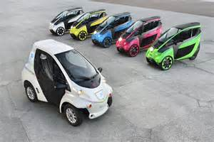 Toyota 3 Wheel Electric Car Price Colourful Carsharing Fleet Of Toyota I Road And Coms In