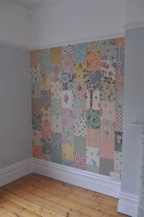 Patchwork Paper - a patchwork quilt effect using vintage wallpaper cuttings