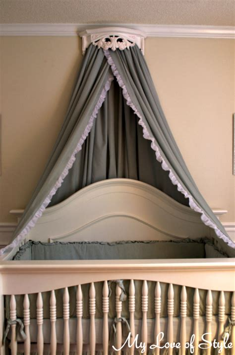 Bed Crown Canopy Diy Bed Crown Crib Canopy Tutorial Hometalk