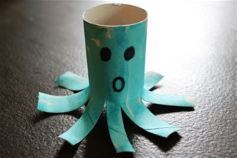 Octopus Toilet Paper Roll Craft - the activity toilet paper roll alphabet crafts o
