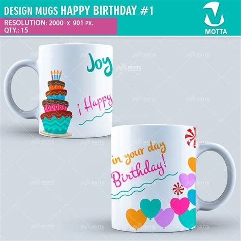 happy birthday thermocol design design for sublimation of mugs happy birthday