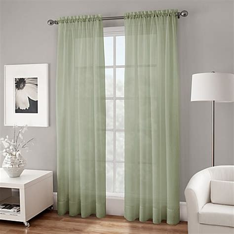 voile sheer curtain panels crushed voile platinum collection sheer rod pocket window