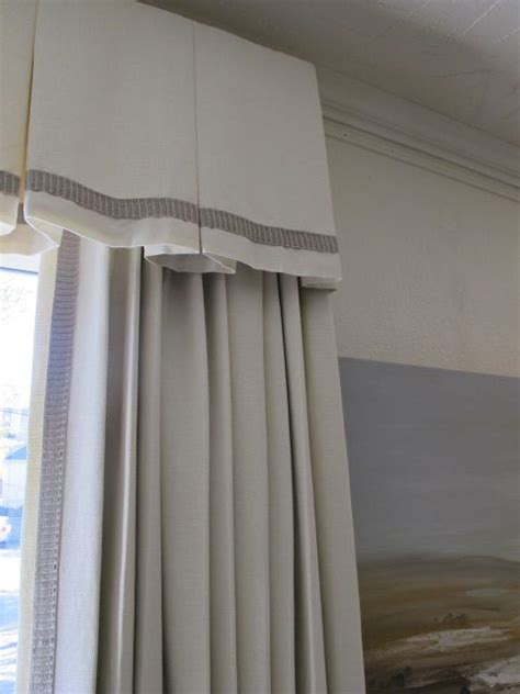 Inverted Pleat Valance inverted pleat valance with panels habillage de fen 234 tres