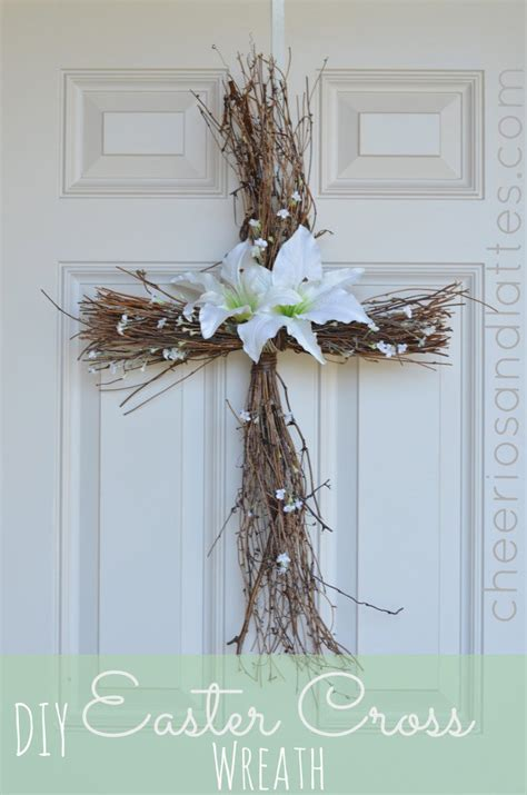 Diy Twig Wreath cross door wreath diy for easter all created