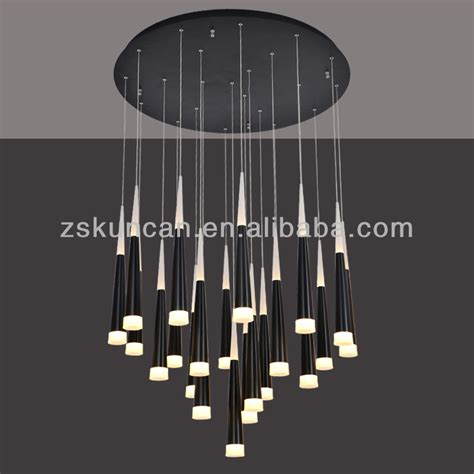 led kronleuchter modern large cone shape led chandelier for hotel hallways buy