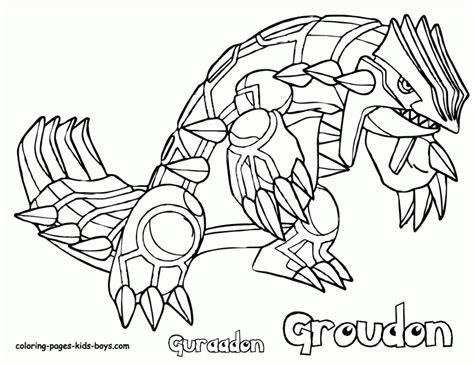 Groudon Coloring Pages groudon coloring pages coloring home