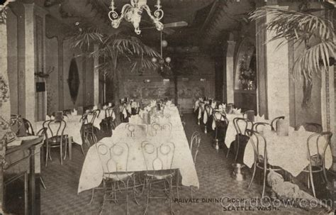 private dining rooms seattle private dining room bismarck cafe seattle wa postcard
