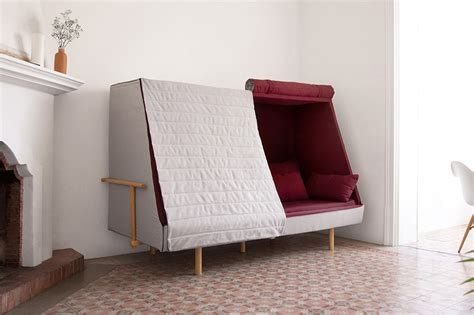 Cabin Beds With Sofa Goula Figuera Blends A Sofa Bed And Cabin Into Orwell