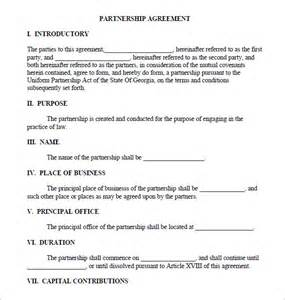 silent partner contract template business partnership agreement 9 documents in