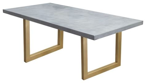 gold metal dining table zinc table with gold sabrina legs modern dining tables