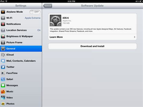 how to upgrade to ios 6 why you should update your ipad to the new ios 6 ipad