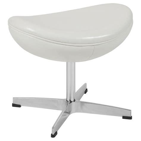 modern white leather ottoman modern footstools paradigm white leather ottoman eurway