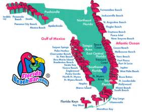 map of florida florida beaches map