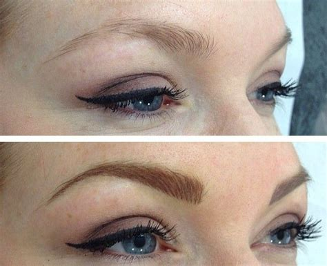 tattooing eyebrows eyebrow after one week tattoos eyebrow