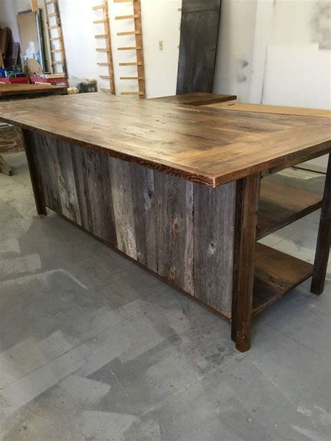 salvaged wood kitchen island 1000 ideas about barn wood shelves on
