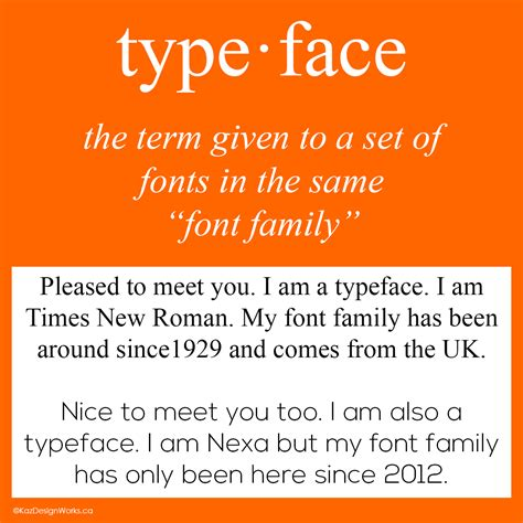 typography and typeface graphic design terms 3 4 typeface vs font kaz talk