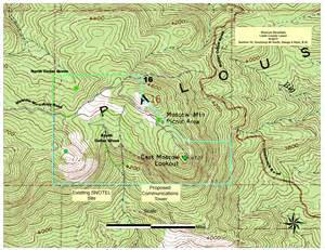 mountain map homeland security application for communication tower on moscow mountain latah county idaho