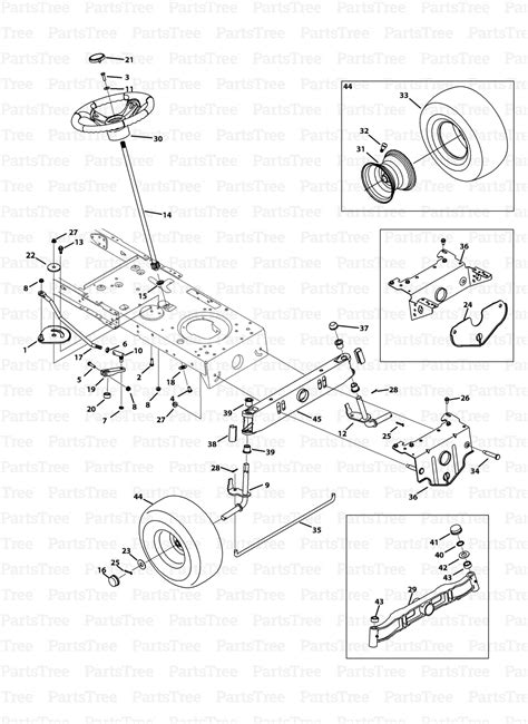 huskee lawn tractor parts diagram mtd 13w2775s031 lt4200 huskee lawn tractor 2013