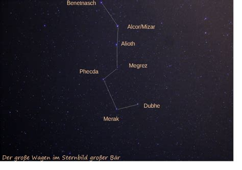sternbild der große wagen sternbilder selbst geknippst