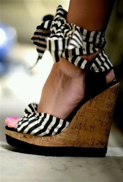 Pretty Heels For Summer by Shoes Sandals Wedge Sandals Black Wedges Shoes