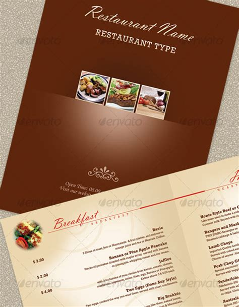 25 high quality restaurant menu design templates web