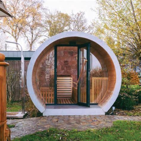 Outdoor Sauna Bauen by Optirelax Deluxe Gartensauna Relaxpipe