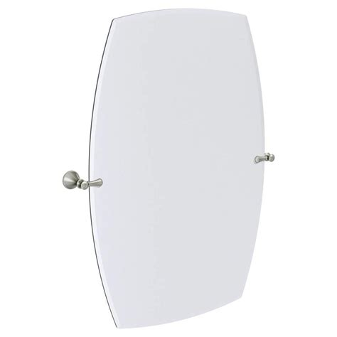 moen bathroom mirrors shop moen rockcliff extra large 28 3 in x 36 in