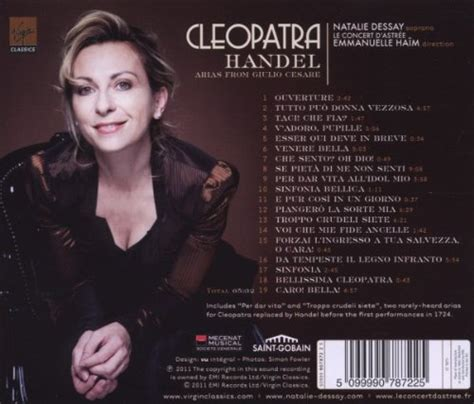 Dessay Cleopatra by Natalie Dessay Cleopatra Handel Arias From Giulio Cesare At Shop Ireland