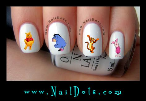 Winnie The Pooh Nail Sticker character nail decals nail decals nail dots nail