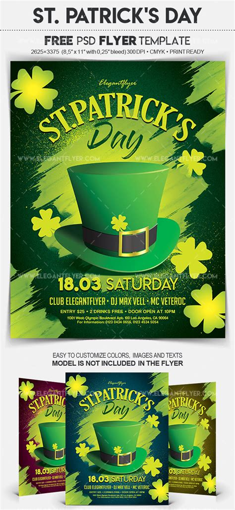 15 Free And Premium St Patrick S Day Party Flyer Templates In Psd By Elegantflyer Day Flyer Template Free