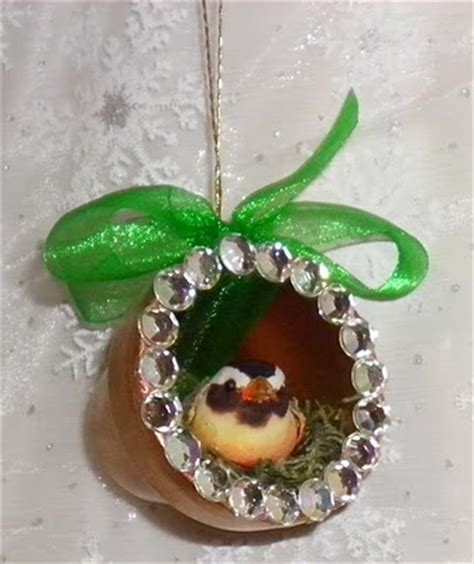bird s nest clay pot christmas ornaments favecrafts com