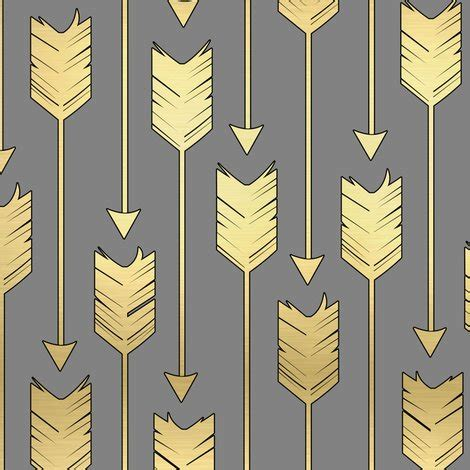 tribal pattern arrows tribal arrows pattern fabric grey and golden fabric