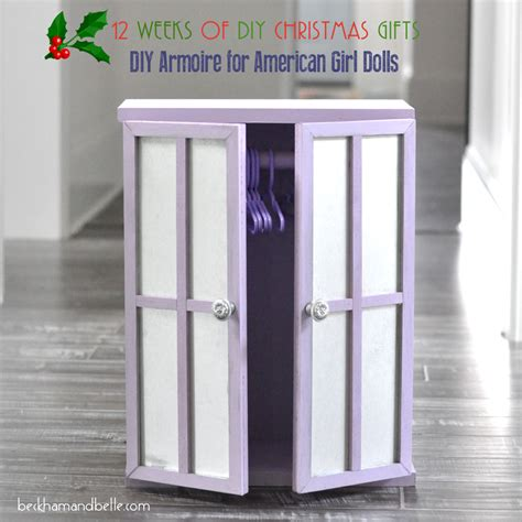 Diy Armoire Closet by Diy Closet Armoire For American Dolls Beckham