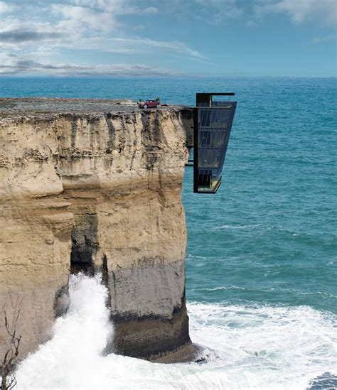 the cliff house cliff house by modscape suspended above the australian ocean