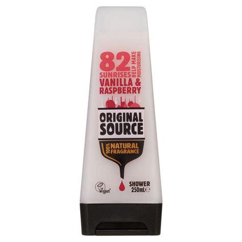 Rasberry Shower Gel 250ml buy original source vanilla and raspberry shower gel 250ml
