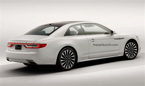 2018 lincoln continental coupe rendering makes some sense