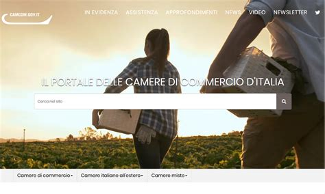 di commercio in evidenza gt gt on line il nuovo portale www camcom gov it