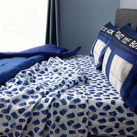 doctor who tardis bedding is comfier on the inside