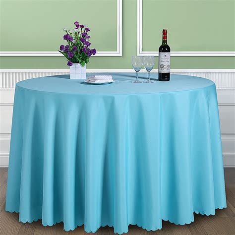 table drape solid color 100 polyester round table cover fabric square