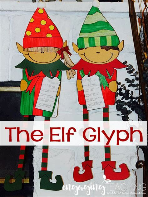 printable elf glyph elf glyph and narrative writing lesson super cute the