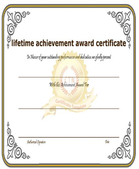 achievement award certificate template 24 award certificates in word