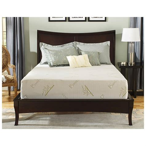 memory foam bed frame tranquil sleep 10 quot memory foam mattress twin 582556