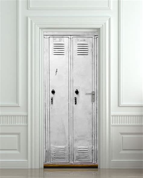 Door Decal by Wall Door Sticker Cells Cell Door Checkroom Cloakroom