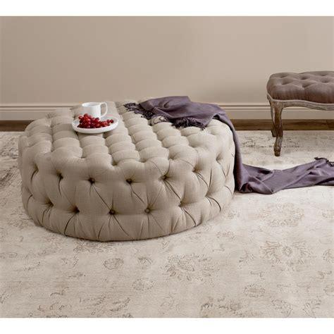 beige tufted ottoman beige tufted ottoman abbyson living beachwood oval