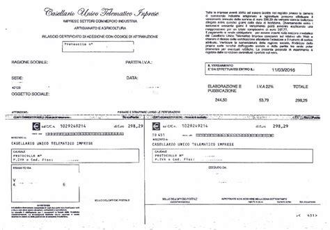 imprese iscritte alla di commercio truffa bollettino posta falso registro telematico delle