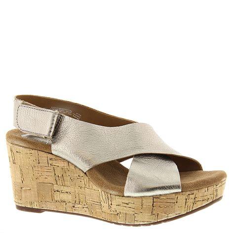 clarks wedge sandal clarks caslynn shae wedge s sandal ebay
