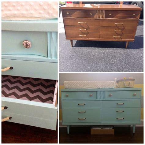 diy dresser into changing table dresser changing table transformation thrift diy